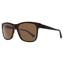 Buy Emporio Armani EA4001 50638G Square Framed Sunglasses, Brown Tortoiseshell Online at johnlewis.com