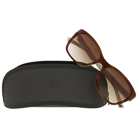 Buy Emporio Armani EA4004 Square Sunglasses, Brown Online at johnlewis.com