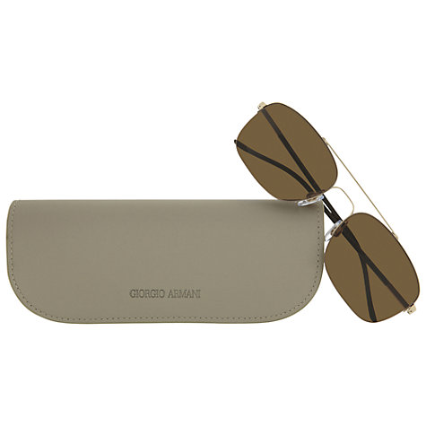 Buy Giorgio Armani AR6001 Rectangular Aviator Sunglasses Online at johnlewis.com