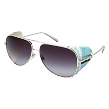 Buy Giorgio Armani AR6005BZ 301511 Sequinned Side Wing Aviator Style Sunglasses Online at johnlewis.com