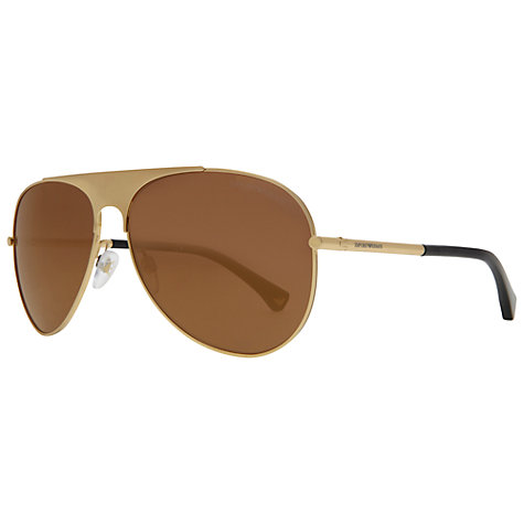 Buy Emporio Armani EA2003 Aviator Sunglasses Online at johnlewis.com