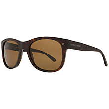 Buy Giorgio Armani AR8008 5001R5 Square Polarised Sunglasses, Brown Online at johnlewis.com