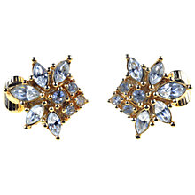 Buy Alice Joseph Vintage 1980s Christian Dior Diamante Gilt Clip-On Earrings Online at johnlewis.com