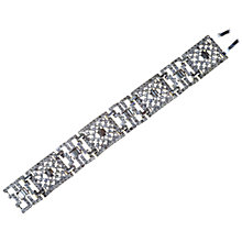 Buy Alice Joseph Vintage 1920s Art Deco Diamante Bracelet, Silver Online at johnlewis.com