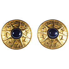 Buy Alice Joseph Vintage 1980s Karl Lagerfeld Sunburst Stone Clip Earrings, Gold Online at johnlewis.com