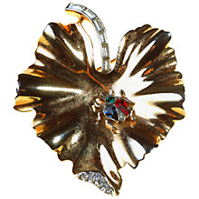 Buy Alice Joseph Vintage 1940s Trifari Gilt Stone Cluster Leaf Brooch Online at johnlewis.com