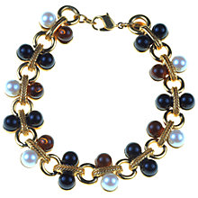 Buy Alice Joseph Vintage 1970s Monet Pearl and Stone Gilt Bracelet Online at johnlewis.com