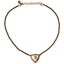 Buy Alice Joseph Vintage 1980s Christian Dior Gilt Pearl Pendant Necklace Online at johnlewis.com