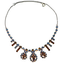 Buy Alice Joseph Vintage 1930s Diamante Cluster Necklace, Blue / Topaz Online at johnlewis.com