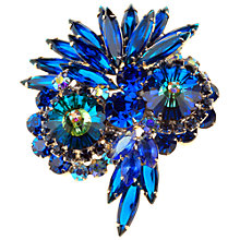 Buy Alice Joseph Vintage 1960s Delizza and Elster Juliana Diamante Brooch, Blue Online at johnlewis.com