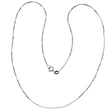 Buy Nina B Sterling Silver Box Chain Necklace, Silver Online at johnlewis.com