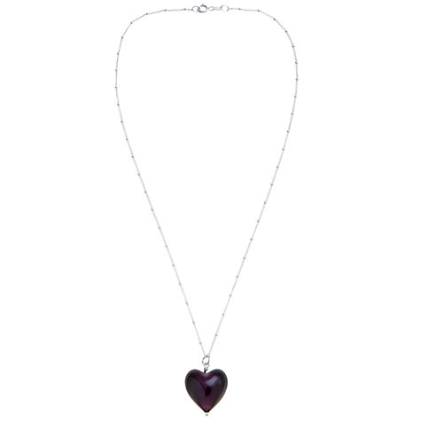 Buy Martick Murano Style Pendant Necklace, Purple Online at johnlewis.com
