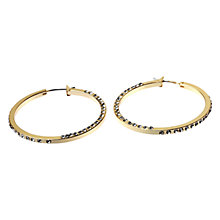 Buy Adele Marie Full Hoop Diamanté Earrings, Gold Online at johnlewis.com