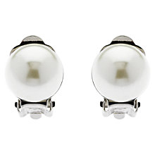 Buy Finesse Faux Pearl Clip-On Earrings, White Online at johnlewis.com