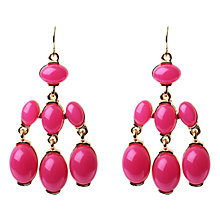 Buy Adele Marie Three Row Drop Earrings, Fuchsia Online at johnlewis.com