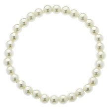 Buy Finesse Classic 6mm Pearl Stretch Bracelet, White Online at johnlewis.com