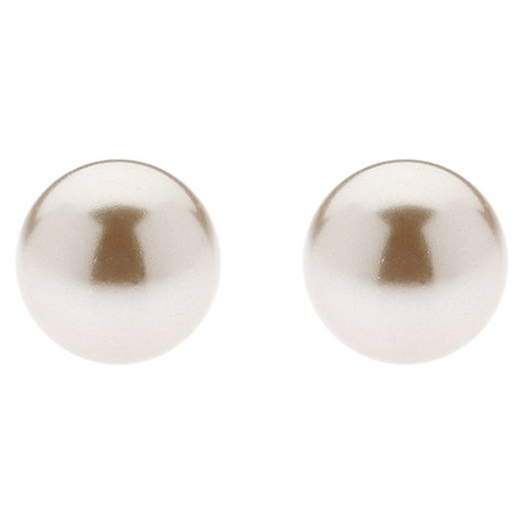 Buy Finesse Classic 8mm Pearl Stud Earrings Online at johnlewis.com
