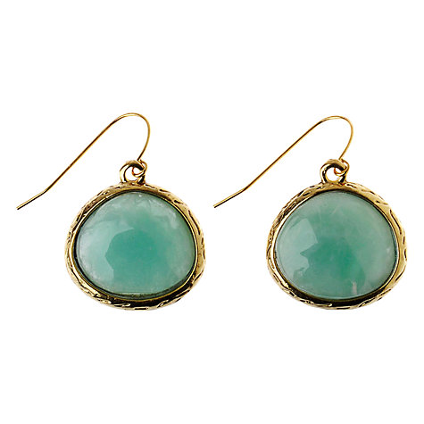 Buy Adele Marie Antique Look Hook Earrings, Green/Gold Online at johnlewis.com