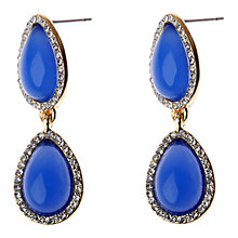 Buy Adele Marie Diamanté Double Teardrop Earrings, Blue/Silver Online at johnlewis.com