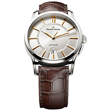 Buy Maurice Lacroix PT6148-SS001-131 Men's Pontos Automatic Date Watch, Silver / Brown Online at johnlewis.com