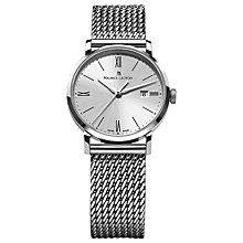 Buy Maurice Lacroix EL1084-SS002-110 Women's Eliros Sunburst Dial Watch, Silver Online at johnlewis.com