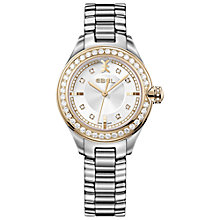 Buy Ebel 1216097 Women's Onde 0.89ct Diamond Watch, Silver / Rose Gold Online at johnlewis.com