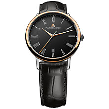 Buy Maurice Lacroix LC6067-PS101-310 Men's Les Classiques Automatic Tradition Watch, Black / Rose Gold Online at johnlewis.com