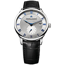 Buy Maurice Lacroix MP6907-SS001-110 Men's Masterpiece Small Seconde Automatic Watch, Silver Online at johnlewis.com