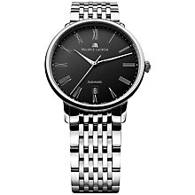 Buy Maurice Lacroix LC6067-SS002-310 Men's Les Classiques Automatic Tradition Watch, Silver / Black Online at johnlewis.com