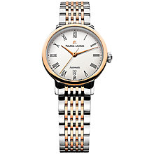 Buy Maurice Lacroix LC6063-PS103-110 Women's Les Classiques Round Date Tradition Watch, Rose Gold Online at johnlewis.com