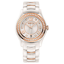 Buy Ebel 1216116 Women's X1 Ceramic 0.72ct Diamond Watch, White / Rose Gold Online at johnlewis.com