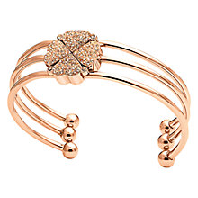 Buy Folli Follie Heart4Heart Triple Row Bangle, Rose Gold Online at johnlewis.com