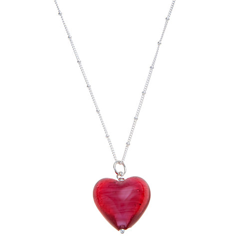 Buy Martick Murano Style Pendant Necklace, Pink Online at johnlewis.com