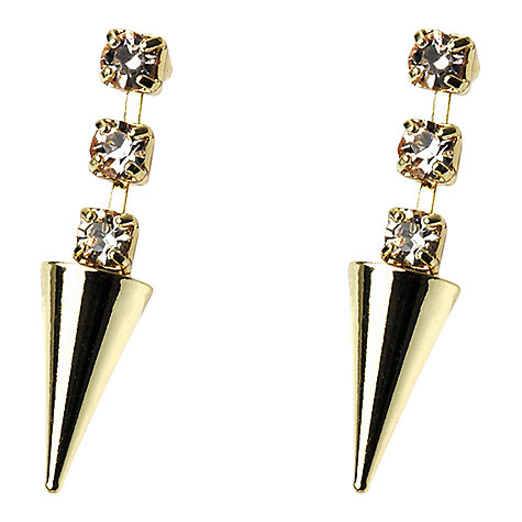Buy Adele Marie Diamante Cone Shaped Earrings, Gold Online at johnlewis.com
