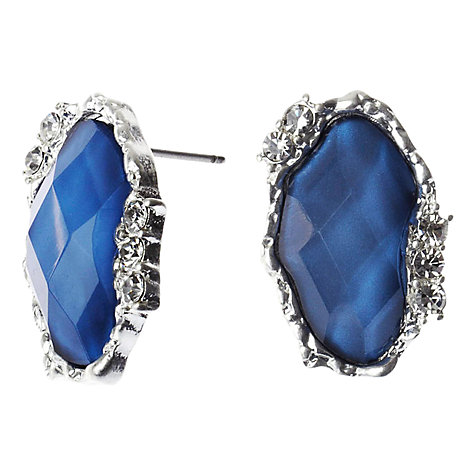 Buy Adele Marie Antique Look Stud Earrings, Blue/Silver Online at johnlewis.com
