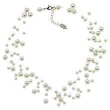 Buy Finesse Pearl Illusion Necklace, White Online at johnlewis.com