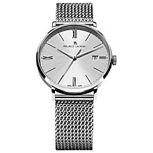 Buy Maurice Lacroix EL1087-SS002-110 Men's Eliros Mesh Bracelet Watch, Silver Online at johnlewis.com
