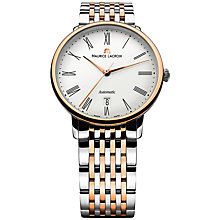Buy Maurice Lacroix LC6067-PS103-110 Men's Les Classiques Automatic Tradition Watch, Silver / Rose Gold Online at johnlewis.com