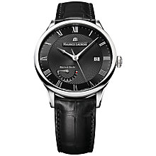 Buy Maurice Lacroix MP6807-SS001-310 Men's Masterpiece Reserve de Marche Automatic Watch, Black Online at johnlewis.com