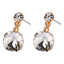 Buy Adele Marie Crystal Drop Earrings, Gold/Silver Online at johnlewis.com