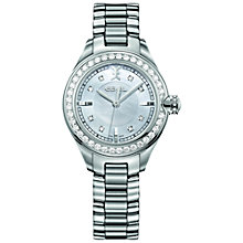Buy Ebel 1216096 Women's Onde 0.89ct Diamond Mother of Pearl Watch, Silver Online at johnlewis.com