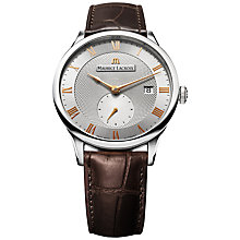 Buy Maurice Lacroix MP6907-SS001-111 Men's Masterpiece Small Seconde Automatic Watch, Silver / Brown Online at johnlewis.com