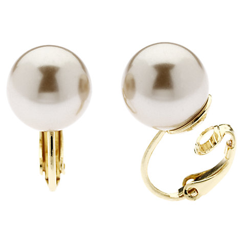Buy Finesse Classic 12mm Pearl Clip-On Earrings Online at johnlewis.com