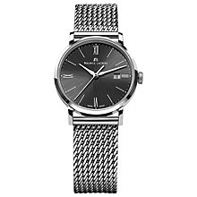 Buy Maurice Lacroix EL1084-SS002-310 Women's Eliros Sunburst Dial Watch, Silver / Black Online at johnlewis.com