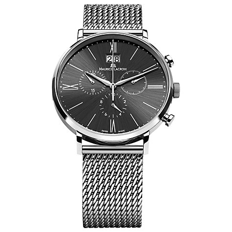 Buy Maurice Lacroix EL1088-SS002-310 Men's Eliros Chronograph Watch, Silver / Black Online at johnlewis.com
