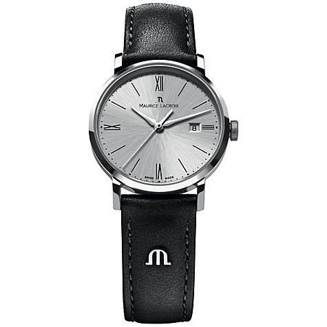Buy Maurice Lacroix EL1087-SS001-110-001 Men's Eliros Date Sunburst Dial Watch, Silver Online at johnlewis.com