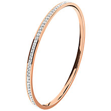 Buy Folli Follie Match and Dazzle Rose Gold Plated Crystal Bangle Online at johnlewis.com