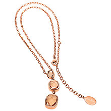 Buy Folli Follie Elements Rose Gold Triple Crystal Drop Necklace Online at johnlewis.com