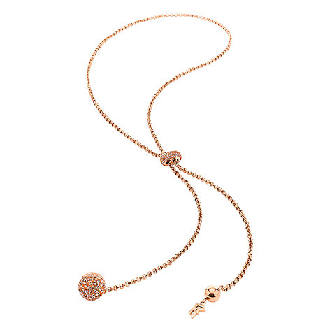 Buy Folli Follie Crystal Sphere Lariat Necklace Online at johnlewis.com