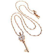 Buy Folli Follie Heart4Heart Key Pendant Necklace, Rose Gold Online at johnlewis.com